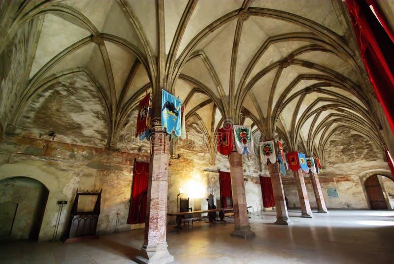 中世纪的大厅 库存照片