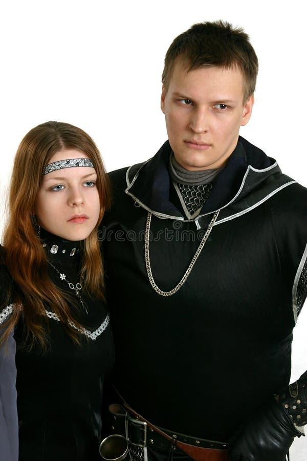 中世纪的夫妇 免版税图库摄影