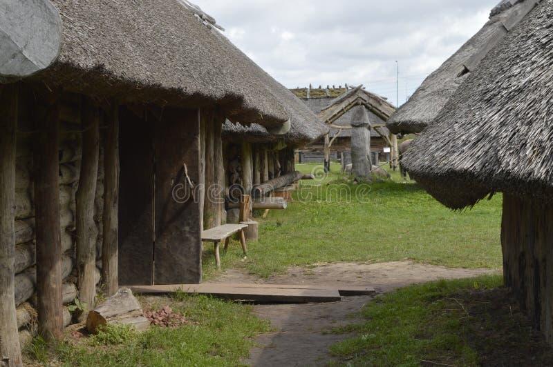 中世纪的房子 免版税库存图片