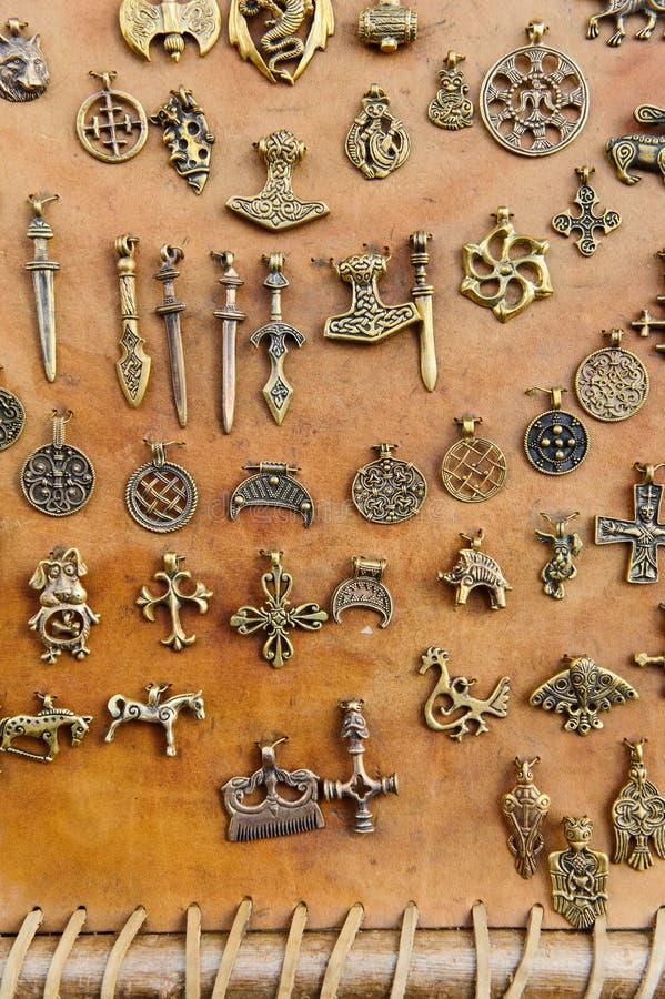 中世纪的护身符 库存照片