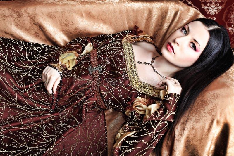 中世纪的服装 免版税图库摄影