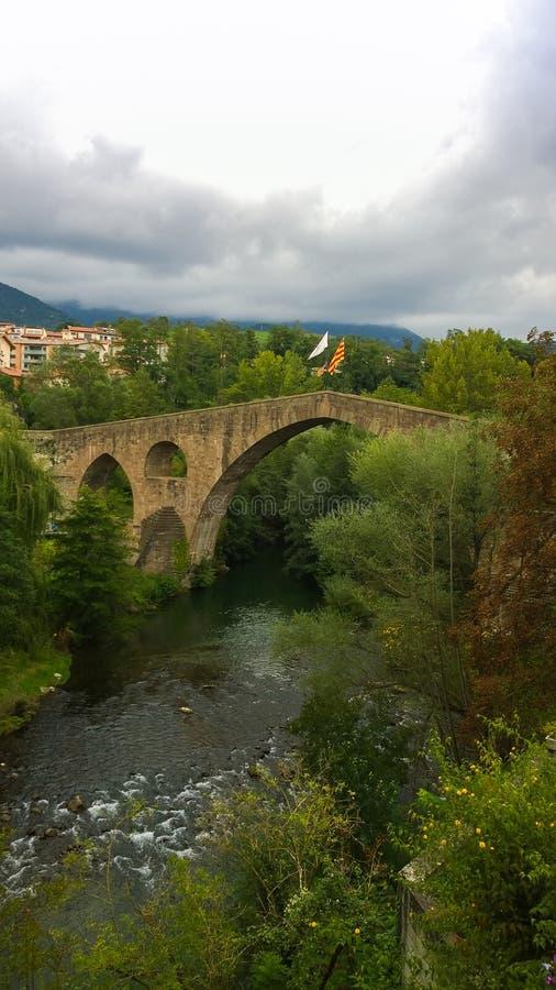 中世纪的桥梁 库存图片