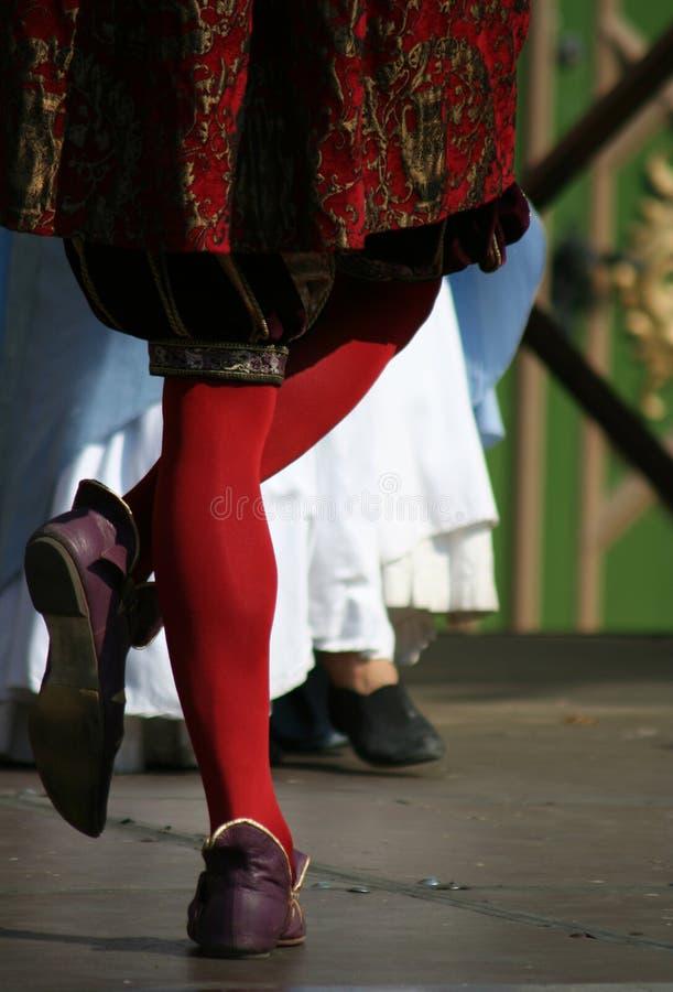 中世纪的舞蹈演员 免版税库存图片