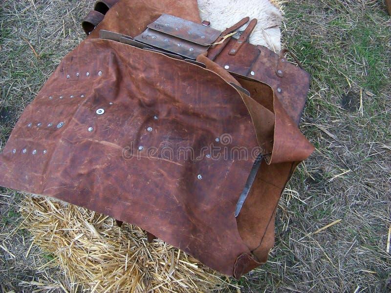 中世纪皮革外套 库存图片