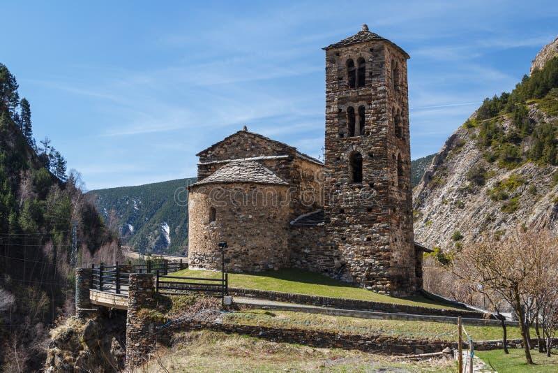 中世纪罗马式教会 免版税库存图片