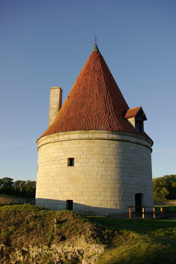 中世纪老塔 库存照片
