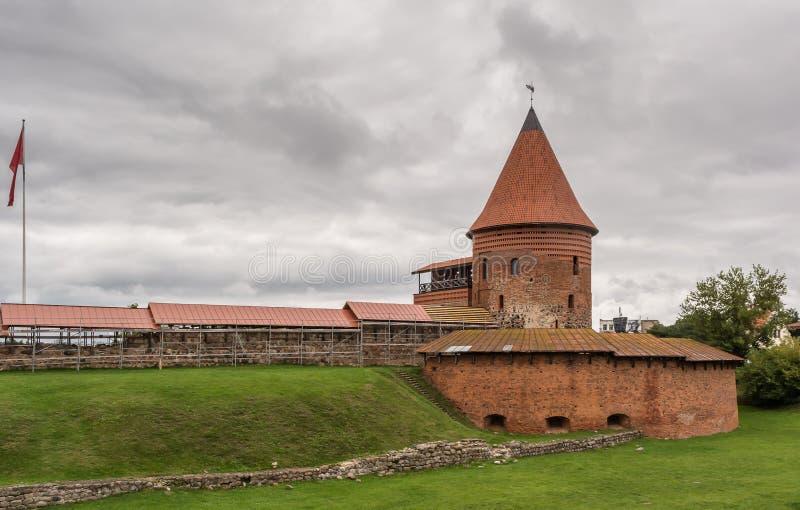 中世纪考纳斯城堡 库存照片