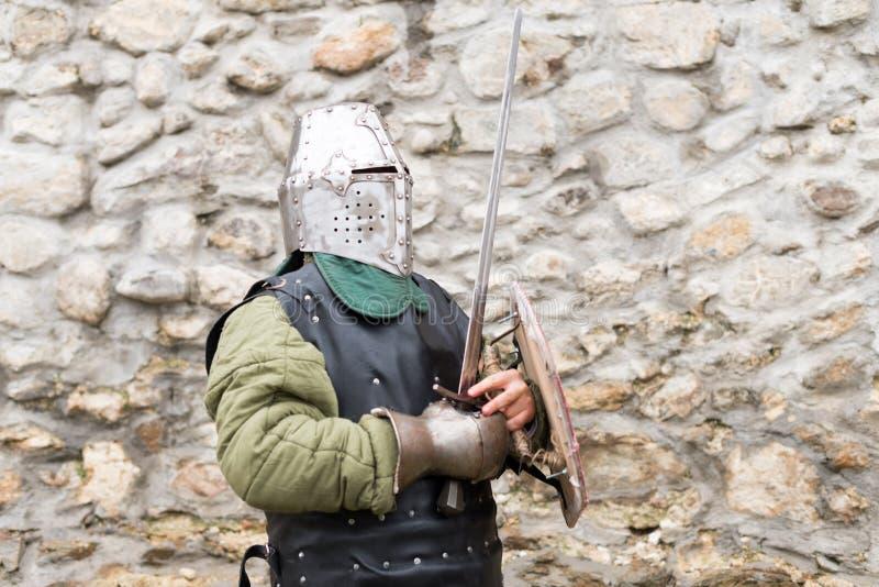 中世纪节日的中世纪骑士在欧洲 库存照片