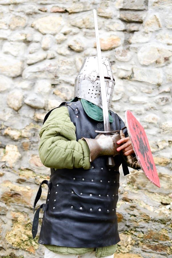 中世纪节日的中世纪骑士在欧洲 库存图片