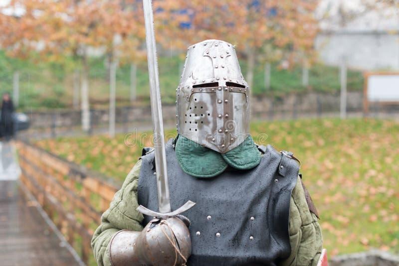 中世纪节日的中世纪骑士 免版税库存图片