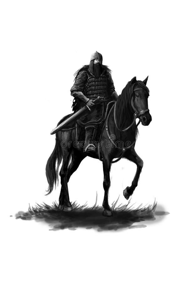 中世纪装甲的骑士 库存例证