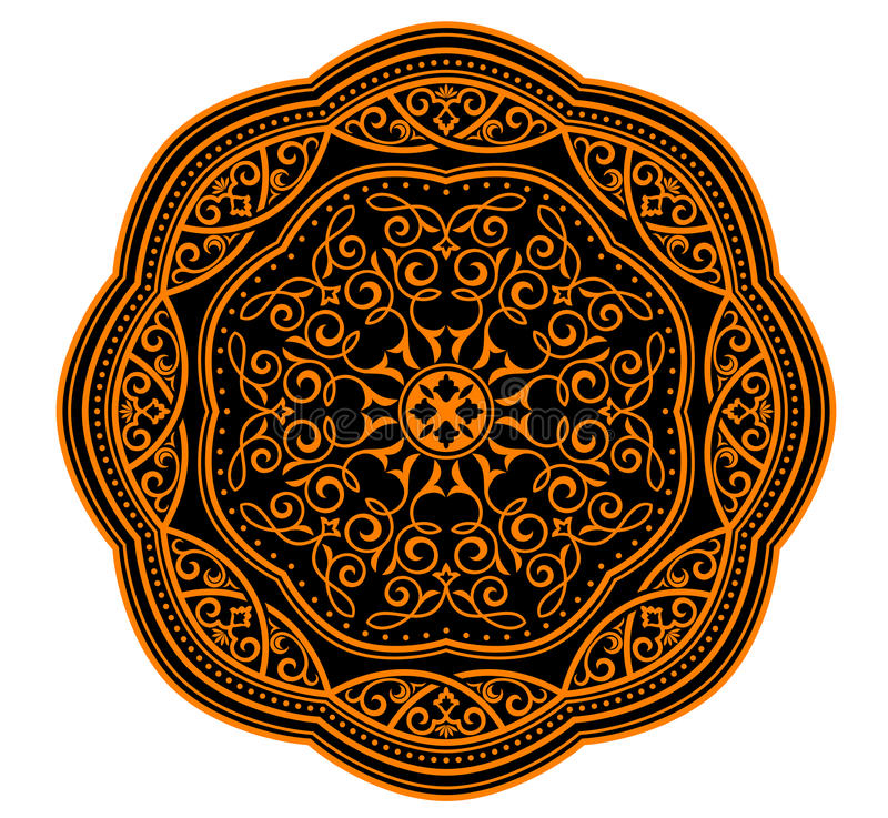 中世纪装饰品 皇族释放例证
