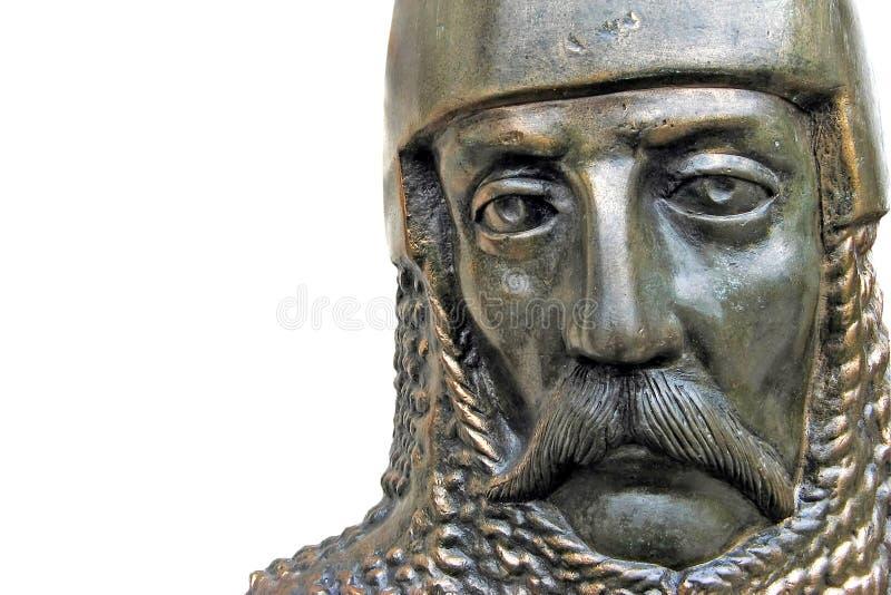 中世纪铁的骑士 免版税库存图片
