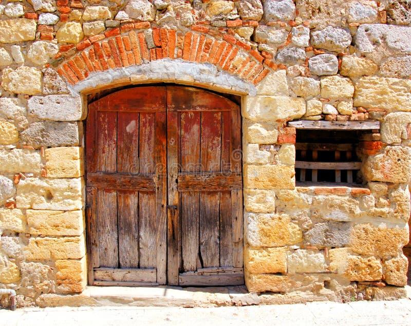 中世纪门面,意大利 库存照片