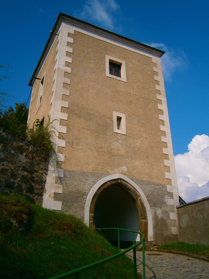 中世纪防御塔 免版税库存照片