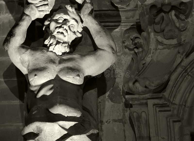 中世纪雕象 免版税库存图片