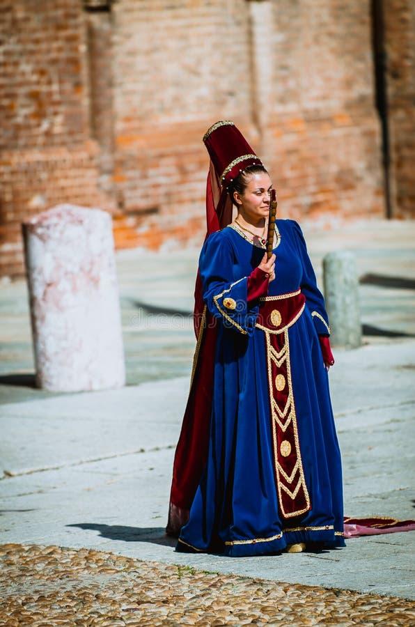 中世纪贵妇人 图库摄影