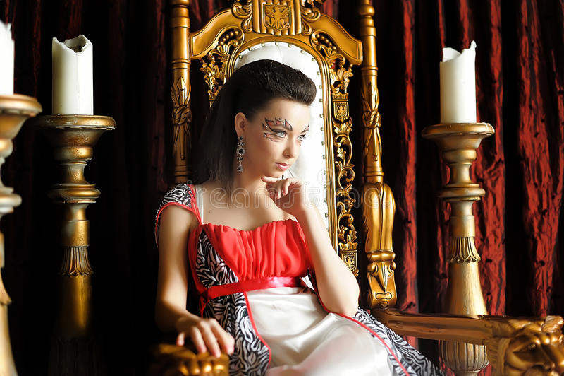 中世纪幻想公主 免版税库存图片