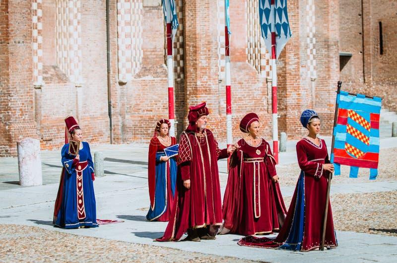 中世纪贵族 库存图片