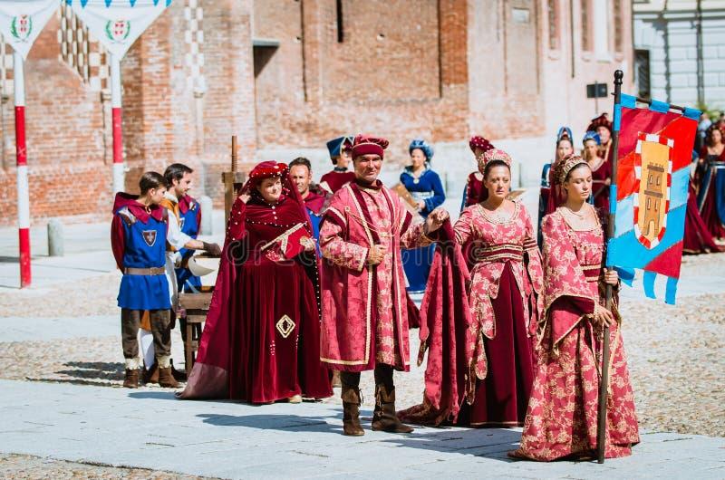 中世纪贵族 免版税库存照片