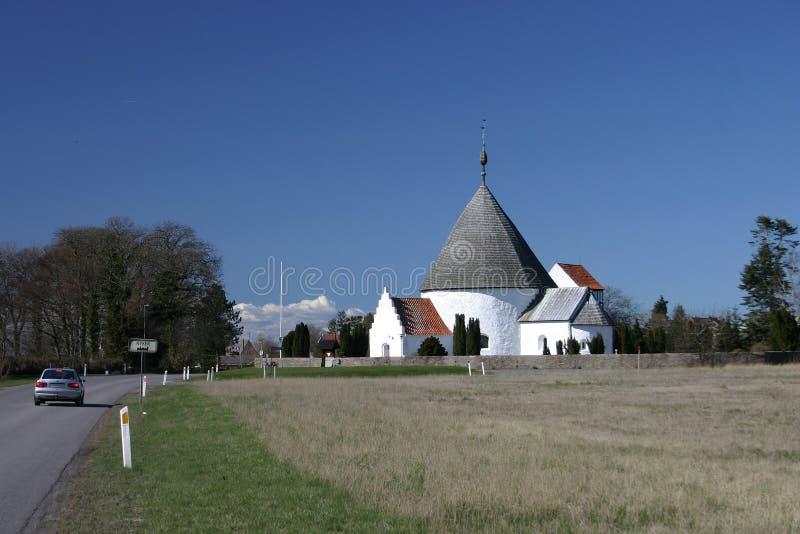 中世纪bornholm的教会 免版税库存照片