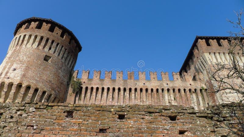 中世纪Sforzesco城堡 库存照片