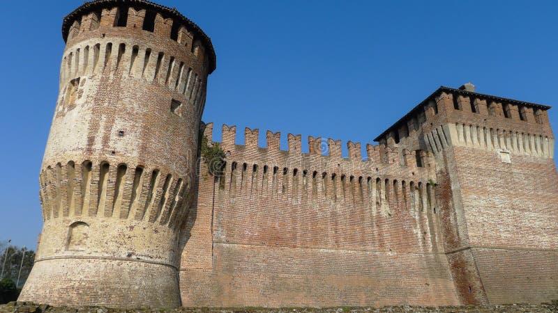 中世纪Sforzesco城堡 图库摄影