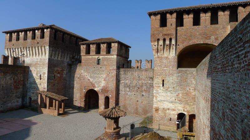 中世纪Sforzesco城堡 库存图片