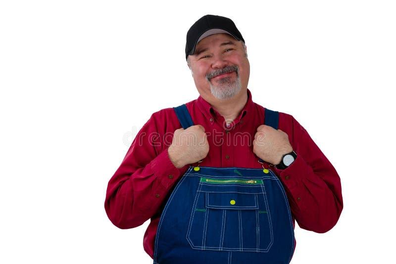 中产阶级农夫、工作者、民工或者花匠 免版税库存照片