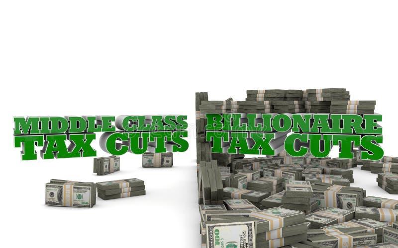 中产阶级减税 向量例证