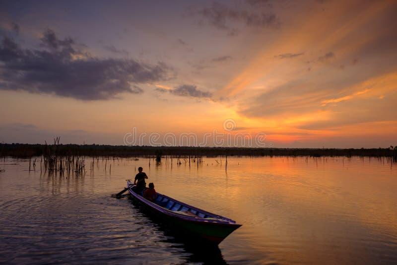 中加里曼丹省的印度尼西亚Sebangau河 免版税库存图片
