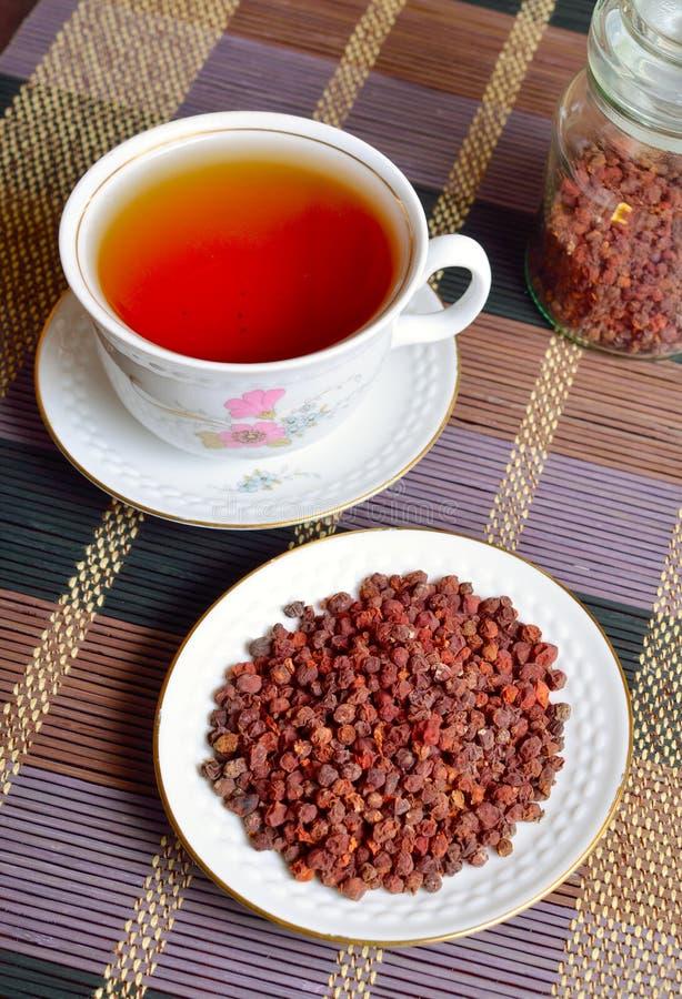 中华的Schisandra,木兰莓果,五味道果子,吴韦 库存照片