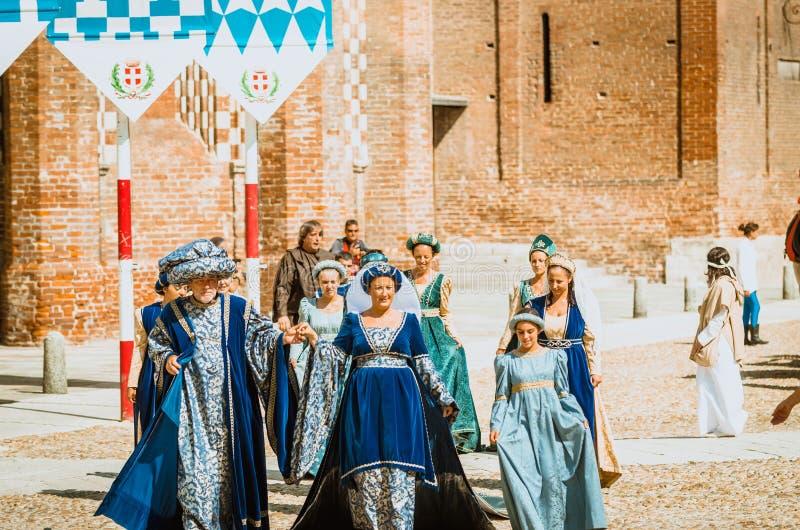 中古的贵族家庭  免版税图库摄影