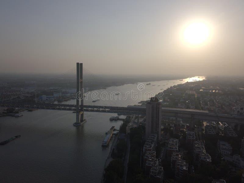 中国上海闵浦大桥 库存图片