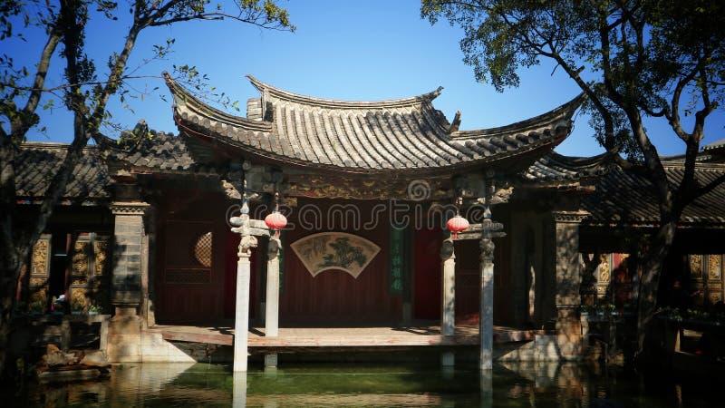 中国与x27:独具特色的美丽古建筑艺术 库存图片