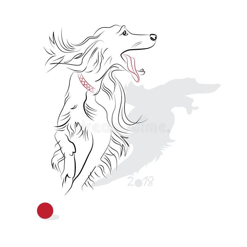 Download 中国书法狗2018年 向量例证. 插画 包括有 繁荣, 种族, 运气, 月球, 红色, 汉语, 设计, 艺术 - 62528431