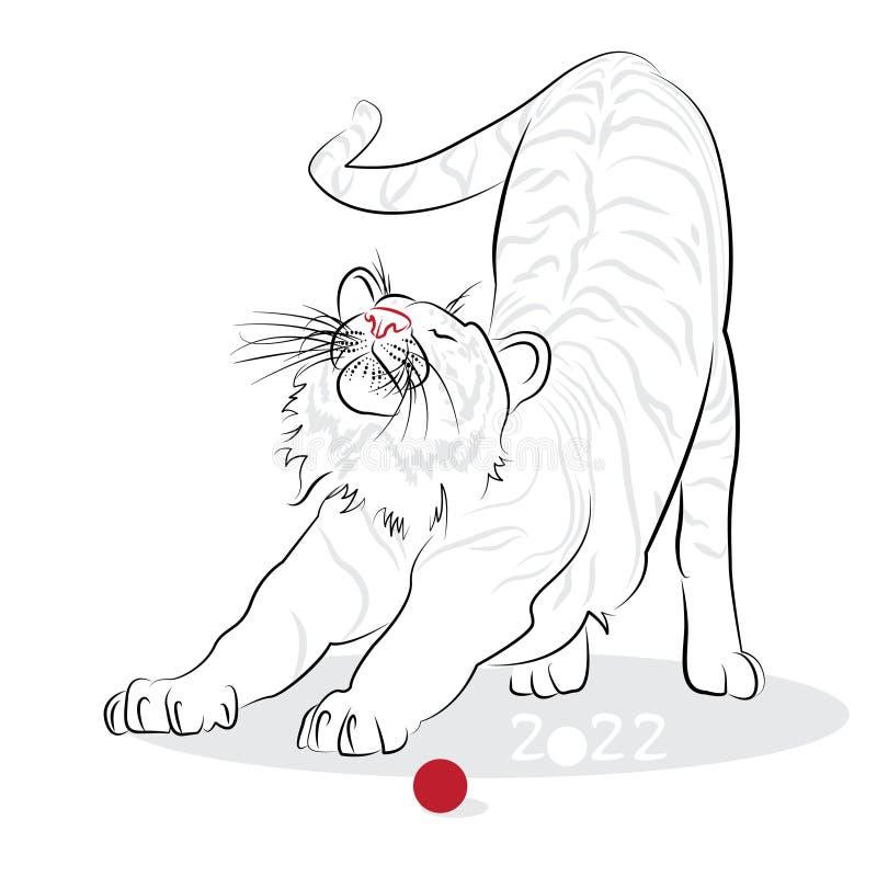 Download 中国书法老虎2022年 向量例证. 插画 包括有 汉语, 长寿, 祝福, 幸运, 节假日, 艺术, 运气 - 62528432