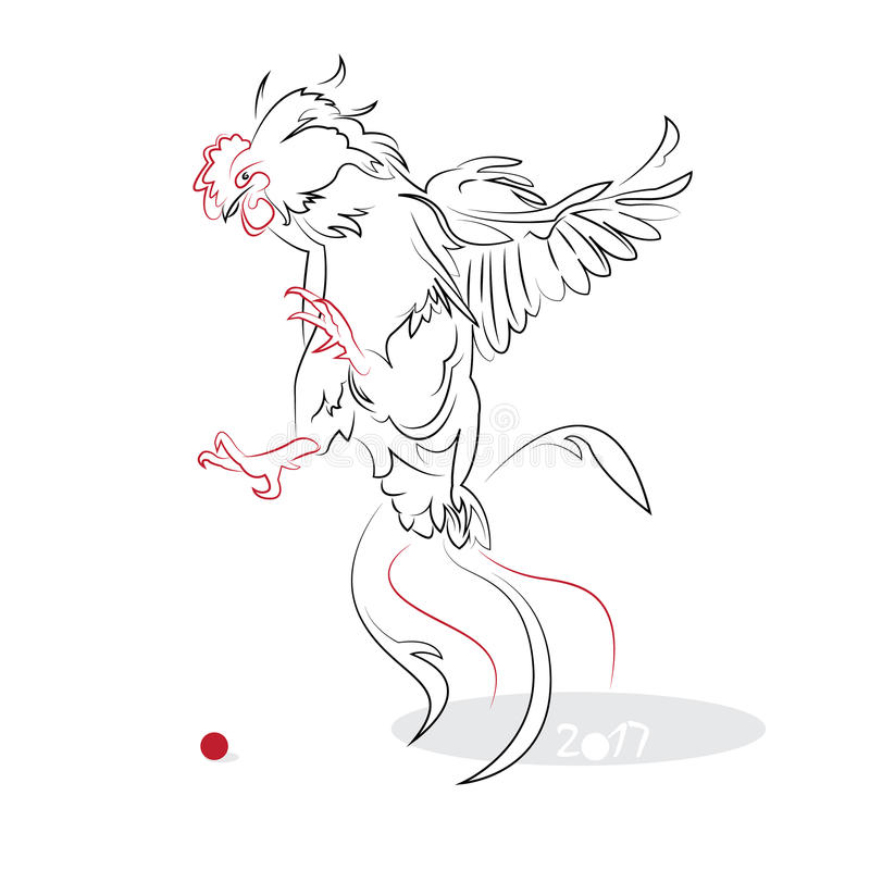 Download 中国书法雄鸡2017年 向量例证. 插画 包括有 文化, 东部, 例证, 繁荣, 运气, 查出, 墨水, 月球 - 62528416