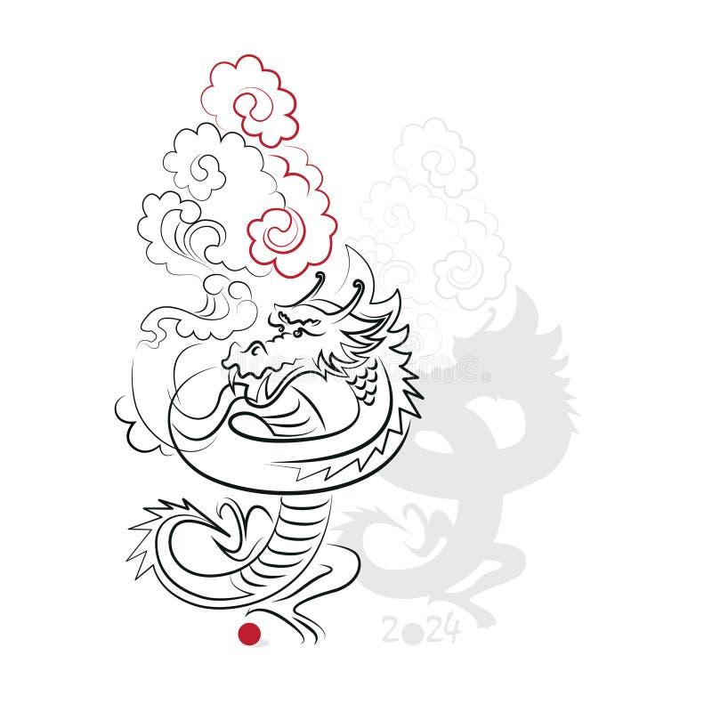 Download 中国书法龙2024年 向量例证. 插画 包括有 庆祝, 欢乐, 祝福, 动画片, 长寿, 例证, 书法, 敌意 - 62528417