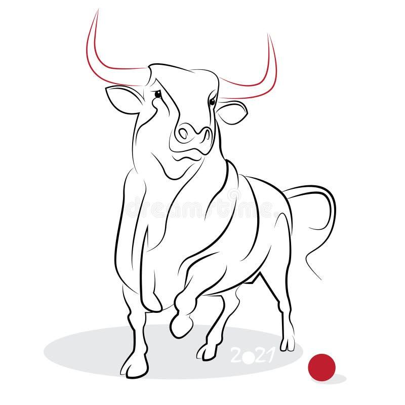 Download 中国书法黄牛2021年 向量例证. 插画 包括有 节日, 红色, 创造性, 汉语, 幸运, 庆祝, 敌意 - 62528418