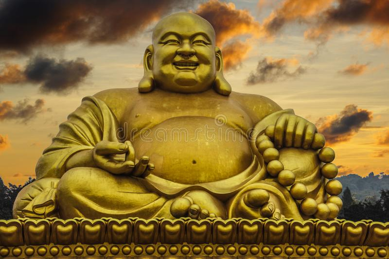 中国云南英里大菩萨雕象 免版税库存图片