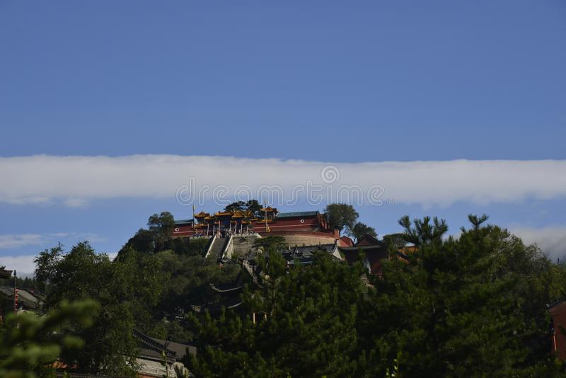 中国五台山寺复合体 库存照片
