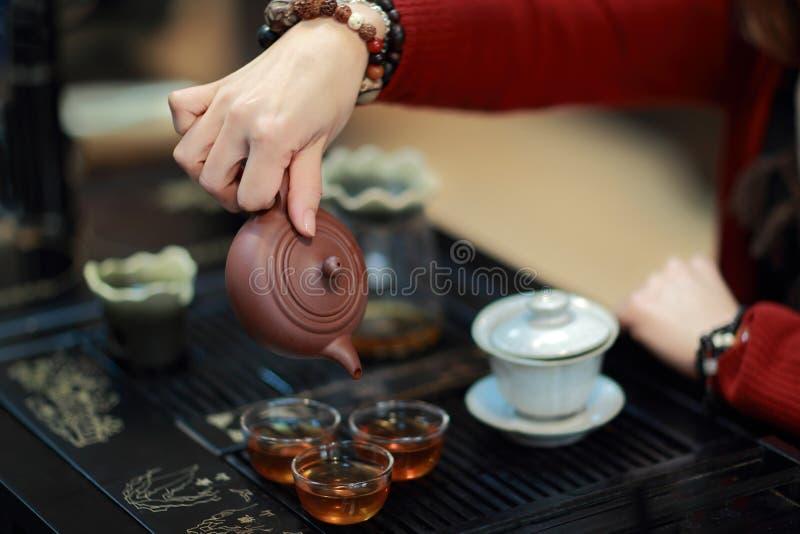 中国人功夫茶 免版税图库摄影