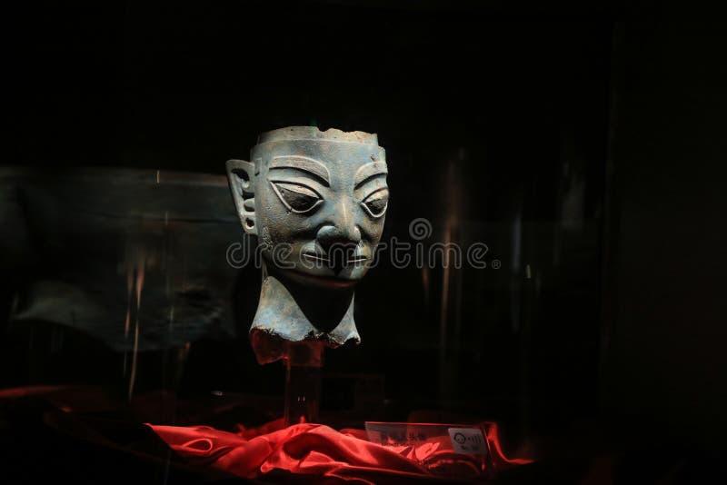 中国人工制品在sanxingdui博物馆,四川,瓷 库存图片