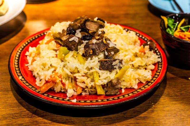 中国人新疆肉饭 图库摄影