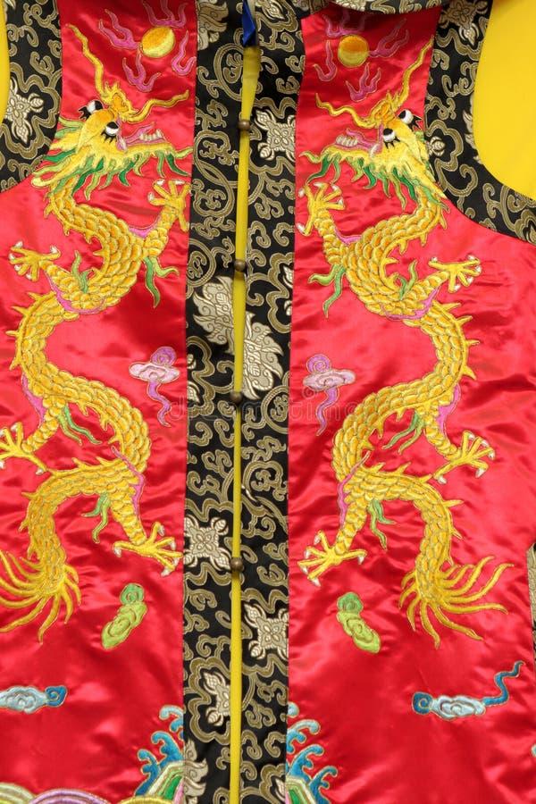 中国人礼服要素 库存照片