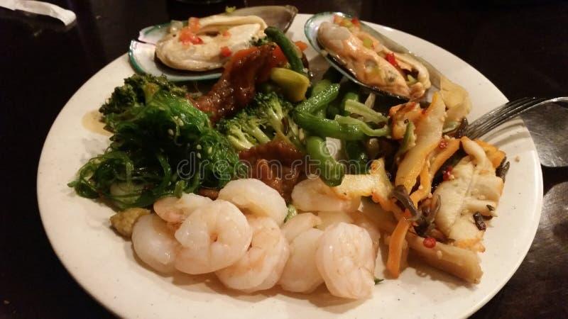 中国人自助餐 城市湖盐 海鲜 库存图片