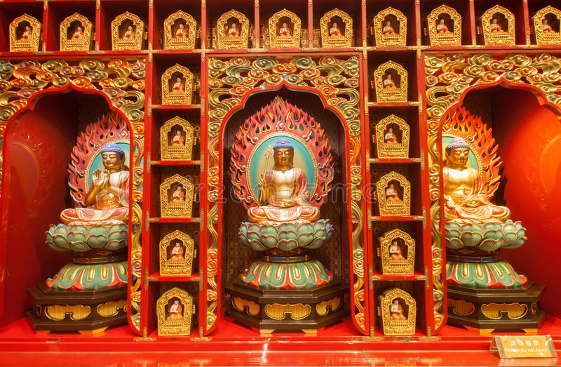 中国人菩萨牙遗物寺庙 免版税库存照片