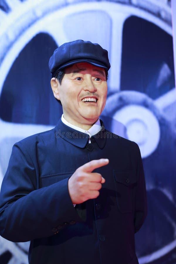 中国人著名喜剧演员赵伯父的蜡象 免版税库存图片