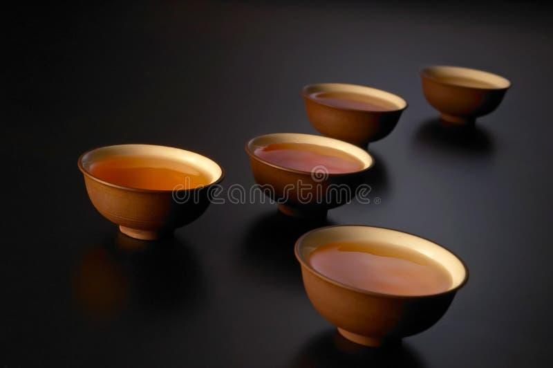 中国人集合茶 库存图片